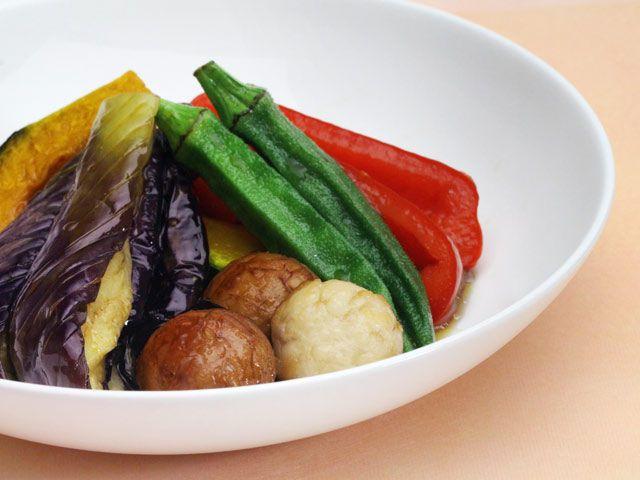 とかちマッシュと夏野菜の揚げびたし
