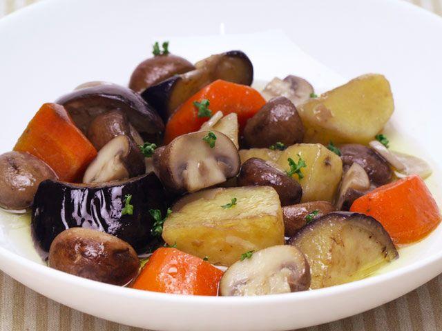 とかちマッシュと野菜のアヒージョ